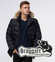 Braggart Aggressive 31042E | Зимняя мужская куртка темно-синяя, фото 1