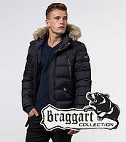 Braggart Aggressive 31042M | Куртка с меховой опушкой черная, фото 1