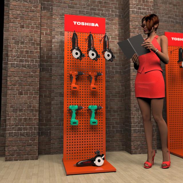 Рекламный стенд для инструмента в магазин