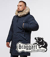 Braggart Arctic 13475E | Мужская парка с капюшоном синяя