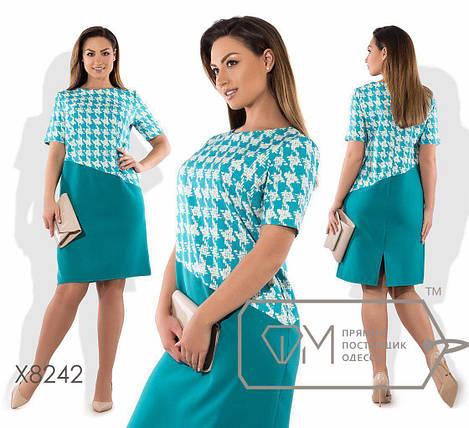 """Стильное  женское платье ткань """"Хлопок+стрейч(костюмная)"""" 48, 50 размер батал, фото 2"""