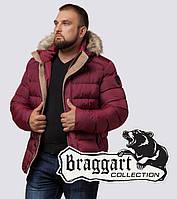 Braggart Dress Code 12149K   Куртка мужская с опушкой бордовая