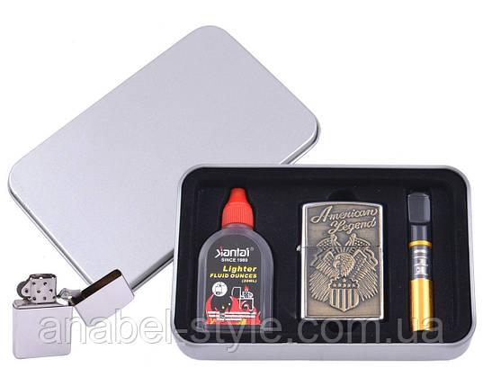 Зажигалка бензиновая в подарочной коробке (Баллончик бензина/Мундштук) American Legend №XT-4707-4 Код 120744, фото 2