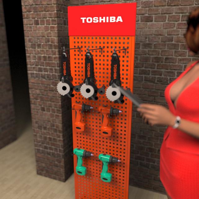 Рекламный стенд для инструмента в магазин фото 2