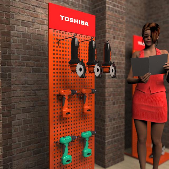 Рекламный стенд для инструмента в магазин фото 3
