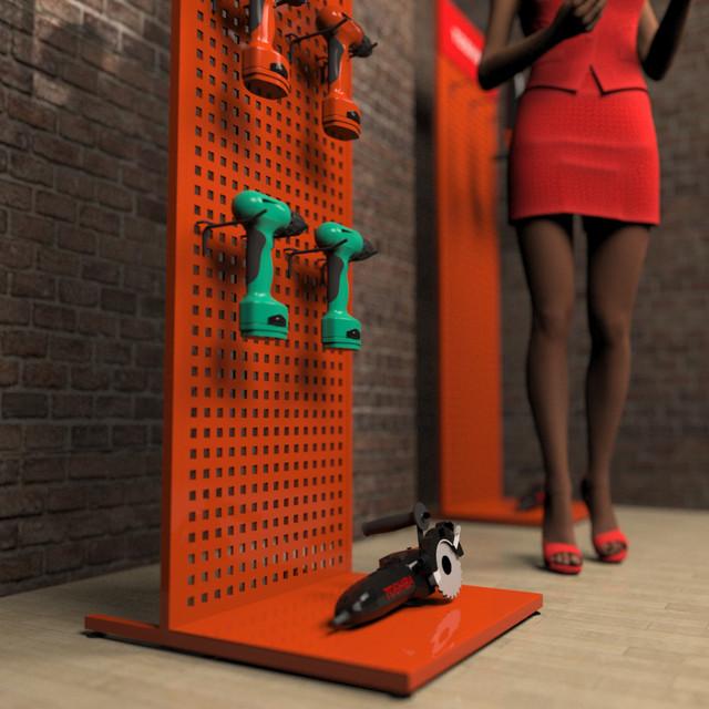 Рекламный стенд для инструмента в магазин фото 4