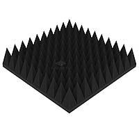 """Акустический поролон """"Пирамида 120"""" 50*50 см. звукопоглощающий. Черный графит"""