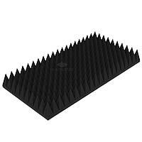 """Акустический поролон """"Пирамида 120"""" 100*50 см. звукопоглощающий. Чёрный графит"""