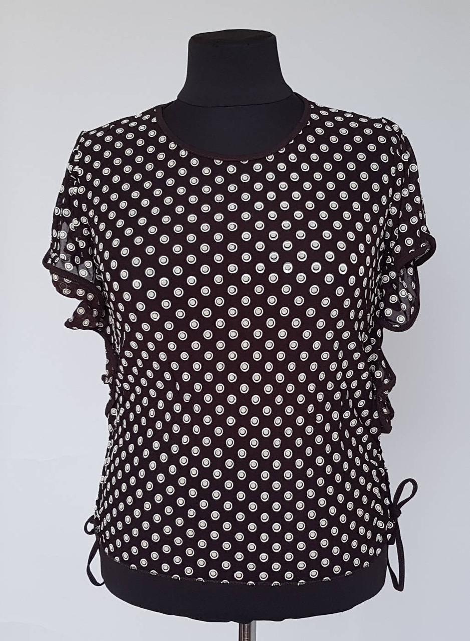 Оригинальная женская блуза в горох большого размера
