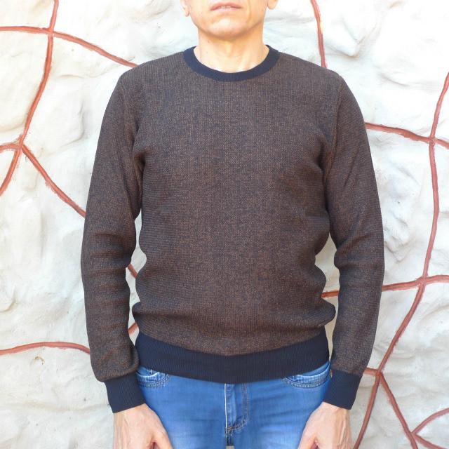 Мужской свитер кофейно-золотого цвета