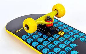 Скейтборд дерево - Color series 79 см - Желтый скейт, фото 3