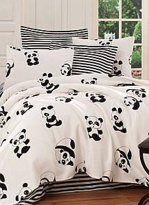 Покрывало пике Eponj Home B&W Panda siyah-beyaz вафельное 200*235