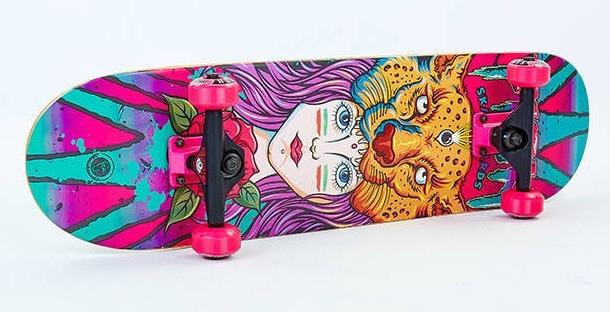 Скейтборд деревянный-канадский клен FISH - Panther 79см скейт