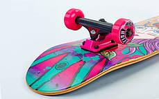 Скейтборд деревянный-канадский клен FISH - Panther 79см скейт, фото 3