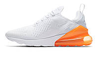 Кроссовки мужские Nike Air Max 270 White Pack Total Orange