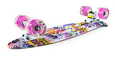 "Fish Skateboards LED Print Pink-Graffiti 22.5"" - Граффити 57 см пенни борд скейт penny, фото 2"