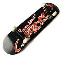 Скейтборд деревянный Bavar 79 см - Черный скейт, фото 2