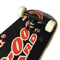 Скейтборд деревянный Bavar 79 см - Черный скейт, фото 3