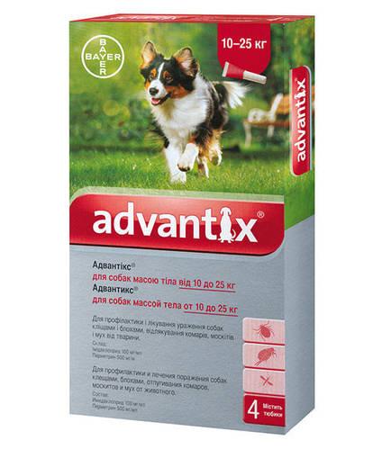 Капли Advantix (капли от блох, клещей и комаров) для собак 10-25кг