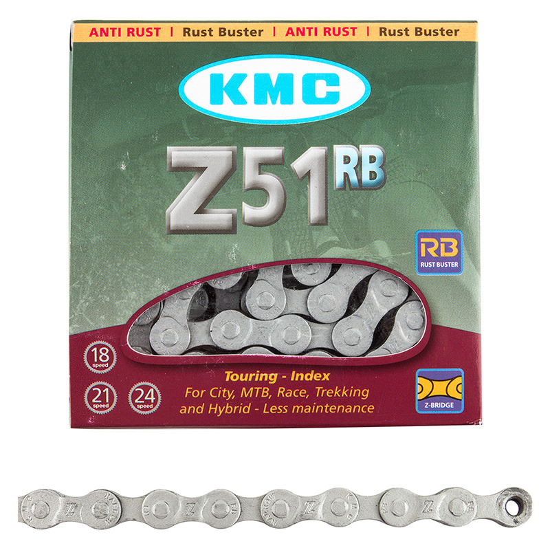 Цепь KMC Z51RB, 6-7-8 скоростей + замок