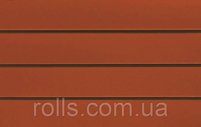 """Лист алюминиевый плоский PREFALZ Р.10 №04 ZIEGELROT """"КРАСНЫЙ КИРПИЧ"""" RAL8004 """"BRICK RED"""" 0,7х1000х2000мм лист рифленый алюминий дизайн интерьера алюминиевый фасад фальцевая кровля Prefa в Украине """"РОЛЛС ГРУП"""" www.rolls.com.ua"""