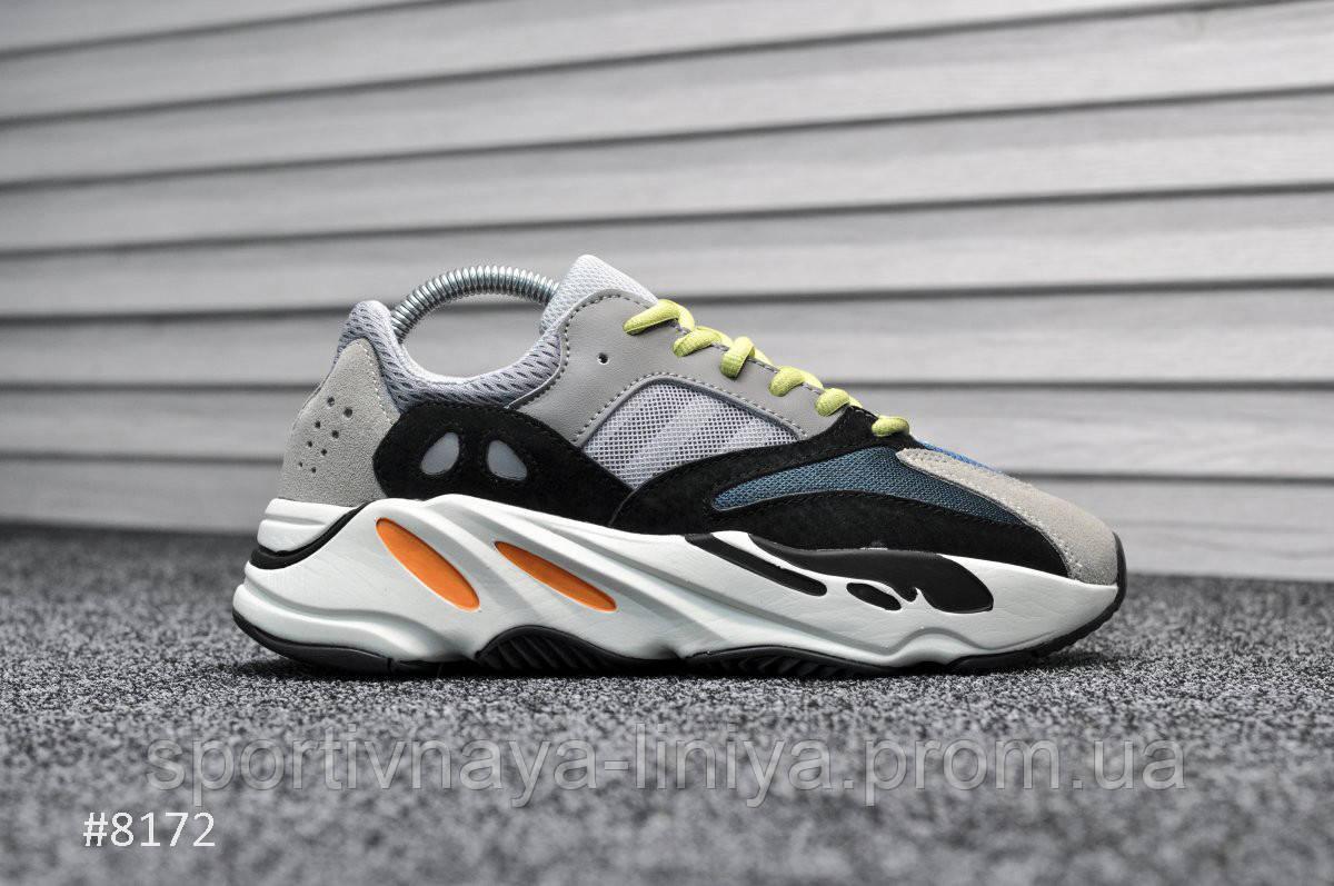 Кроссовки мужские серые Adidas Yeezy 700 Wave Runner (реплика)