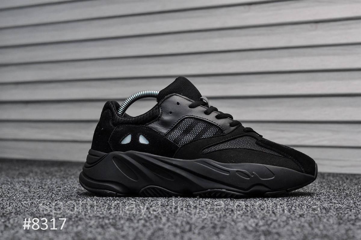 Кроссовки мужские черные Adidas Yeezy 700 Wave Runner (реплика)