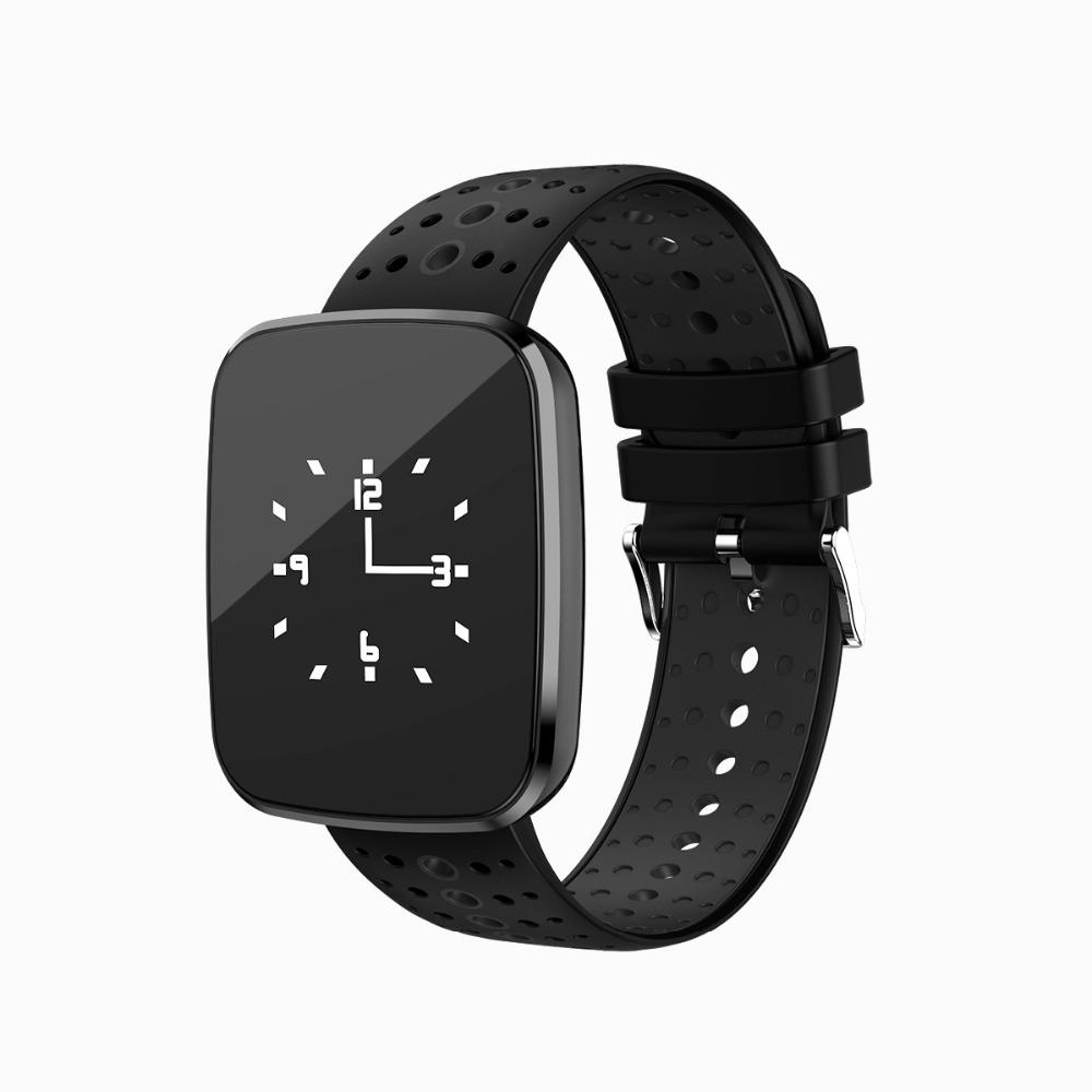 """Умные часы SUNROZ V6 смарт-часы 0,96"""""""" 110mAh Черный (SUN1651)"""
