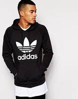 Худи Adidas, логотип-трилистник