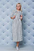 Женское платье миди Горох, фото 1