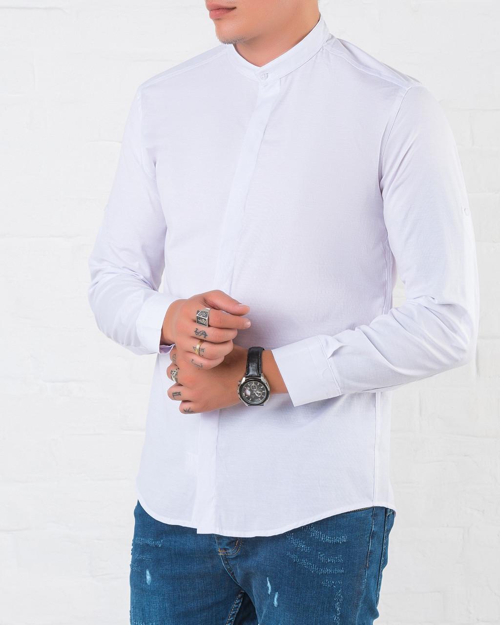 f74471a7c50 Мужская рубашка Slim Fit с воротником стойкой   продажа