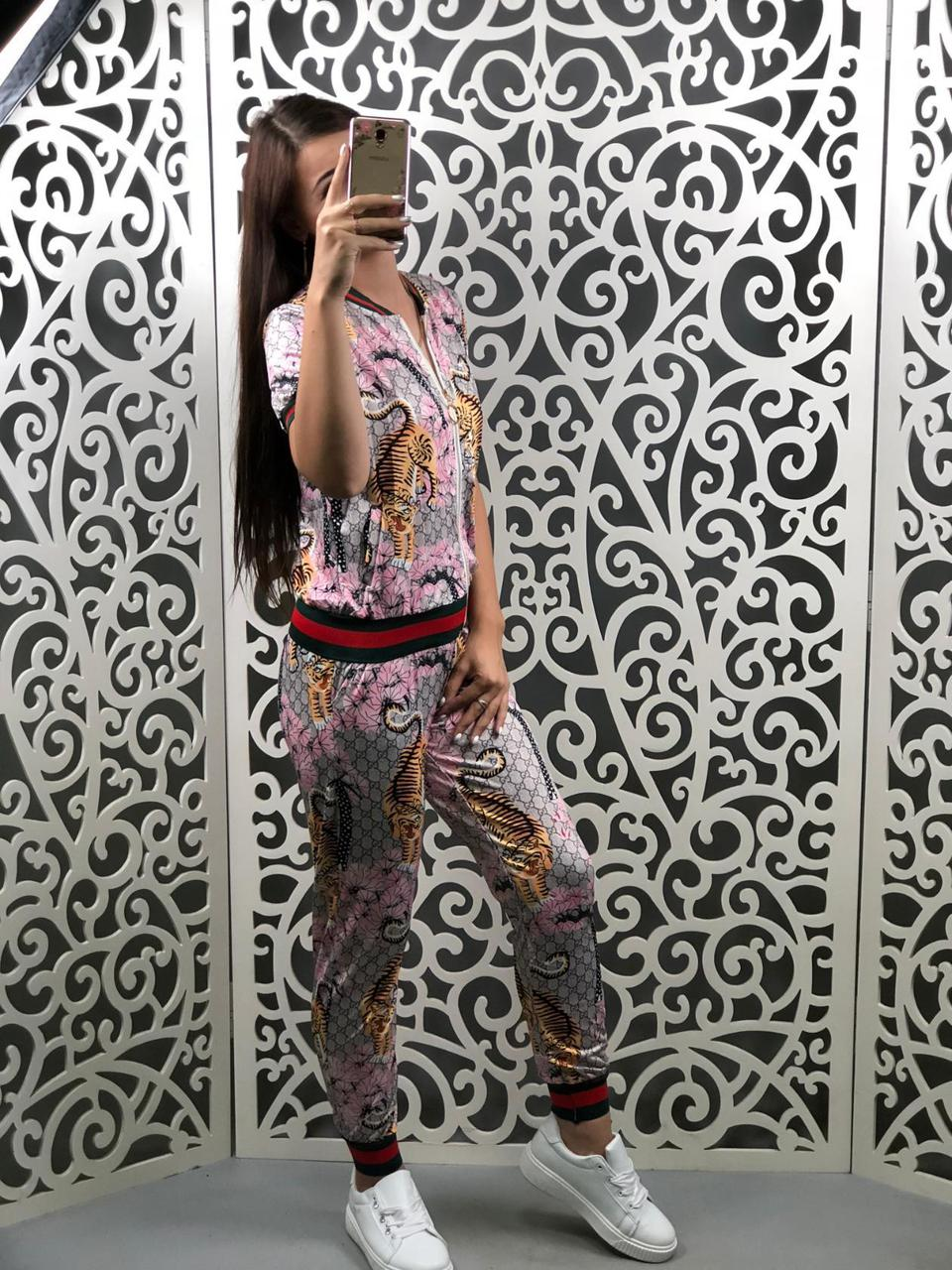 "Костюм спортивный женский в стиле ""Gucci"" ""Трикотаж масло"" 50 размер батал"