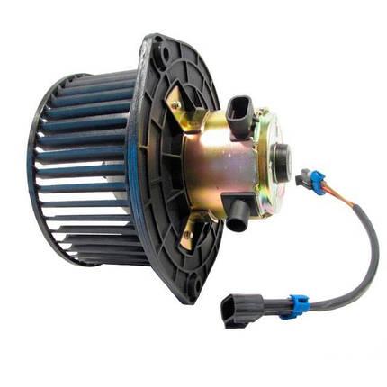 Электровентилятор отопителя ВАЗ-2123 Luzar (электродвигатель в сборе с крыльчаткой на подшипнике), фото 2