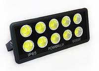 Светодиодный прожектор Powerlux 500Вт, 6500К, IP65.