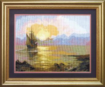 Набор для вышивки крестом Чарівна Мить 521 «Вечер на море»