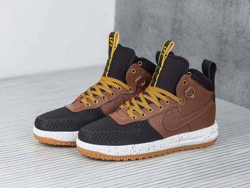 separation shoes 8540c 8f42f ... Кроссовки Nike Lunar Force 1 Flyknit Duckboot Brown Black Loden , фото  3 ...