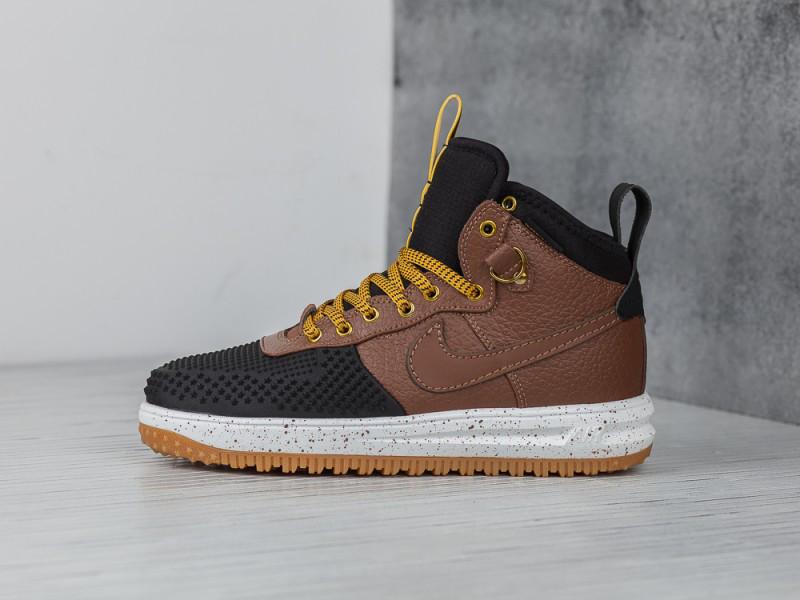 Кроссовки Nike Lunar Force 1 Flyknit Duckboot Brown Black Loden