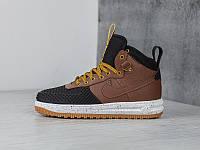 Кроссовки Nike Lunar Force 1 Flyknit Duckboot Brown Black Loden  , фото 1