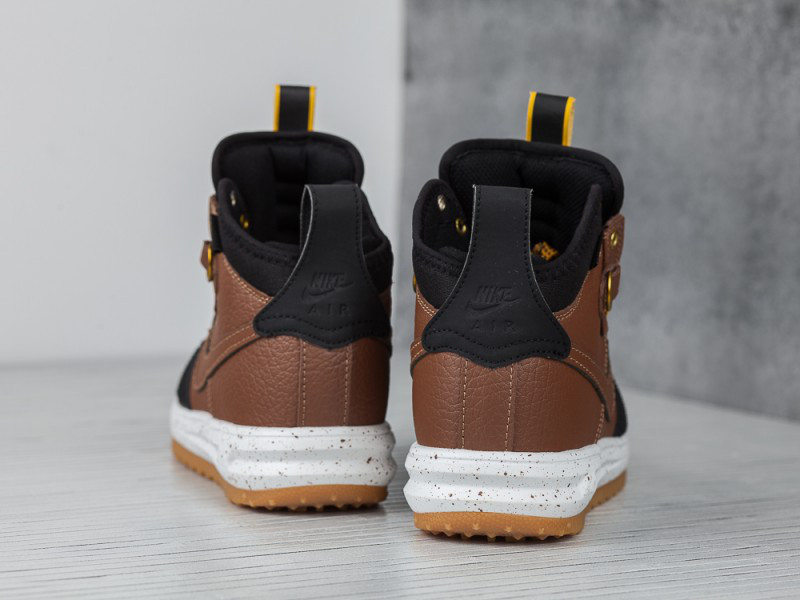 26a146b4 ... Кроссовки Nike Lunar Force 1 Flyknit Duckboot Brown Black Loden , фото  4 ...