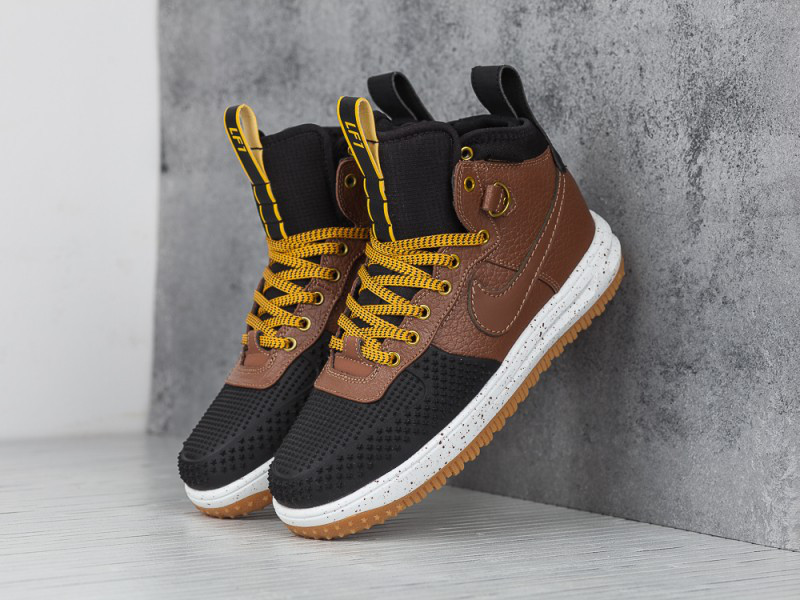 3333f119 Кроссовки Nike Lunar Force 1 Flyknit Duckboot Brown Black Loden , фото 2 ...