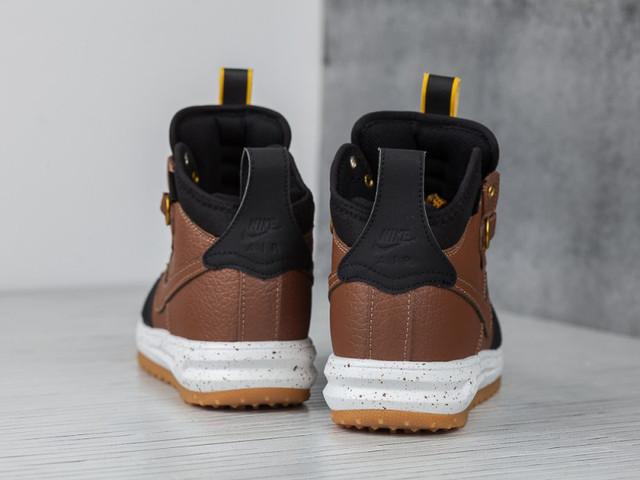 meet 07ad5 ebc64 Nike Lunar Force 1 Flyknit Duckboot Brown Black Loden