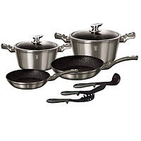 Набор посуды Berlinger Haus 9 предметов Metallic Line CARBON Edition BH 1227N