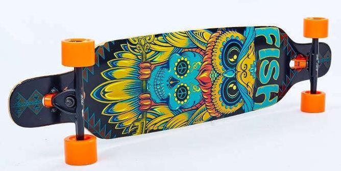 "Лонгборд Fish Skateboards 38"" - Owl / Сова Харди"