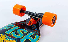 "Лонгборд Fish Skateboards 38"" - Owl / Сова Харди, фото 3"