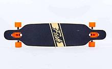 "Лонгборд Fish Skateboards 38"" - Owl / Сова Харди, фото 2"
