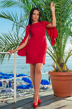 К701 Трендовое платье мини (размеры 42-50), фото 2