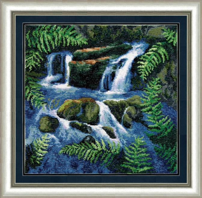 Набор для вышивки крестом Чарівна Мить 406 «Водопад»