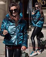 Короткая объемная женская куртка с воротником-стойкой 7101102, фото 1