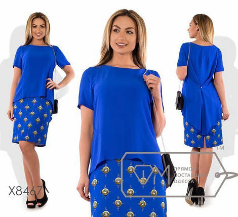 """Элегантное женское платье ткань """"Креп - Костюмная ткань"""" э 48 размер батал, фото 2"""