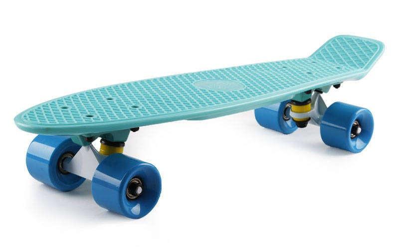 "Скейт Пенни борд Penny Board Пенні Fish Skateboard 22.5"" Aqva- Аква 57см"